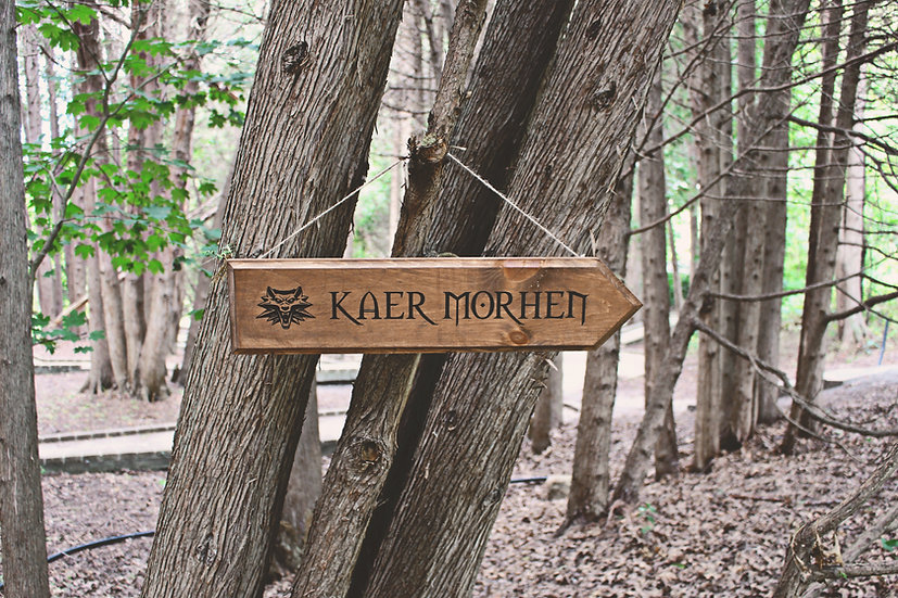 Kaer Morhen - Street Sign - Witcher Decor
