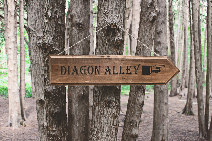 Diagon Alley - Street Sign - Harry Potter Decor