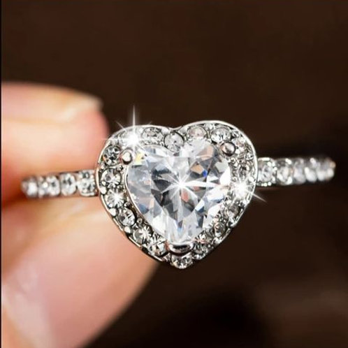 White Zircon Ring