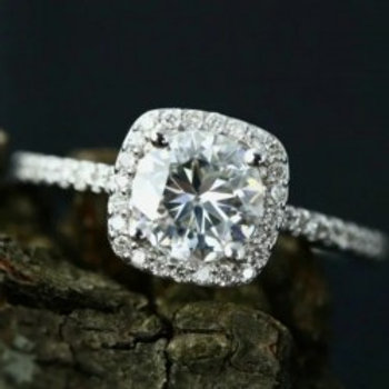 White Zircon Elegant Cubic Ring