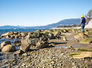 English Bay Vancouver Ocean Mountains