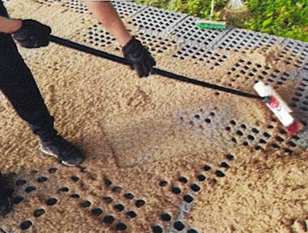 Sweeping sand on grids