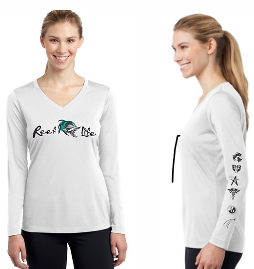 Reef Life V-Neck Dri-fit