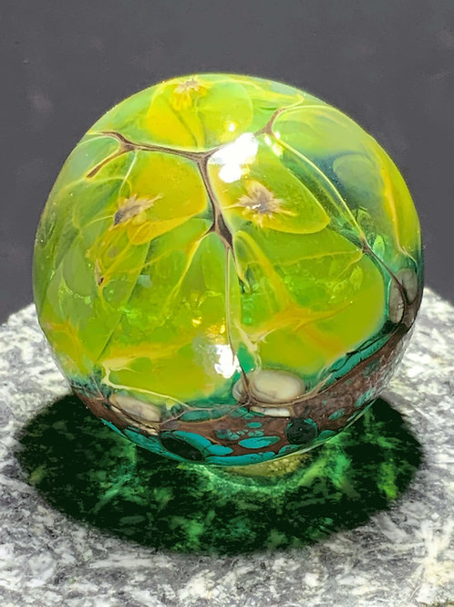 Spring blown glass hollow form