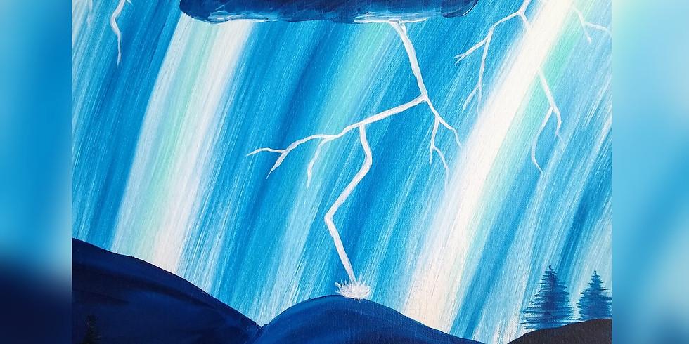 """""""Lightening Storm"""" Paint Night"""
