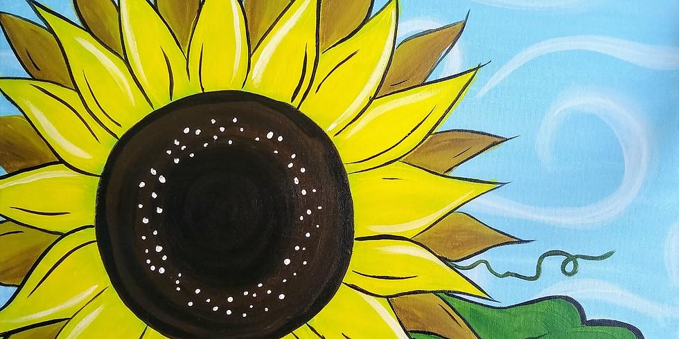 """Deco Sunflower""  Paint Night"