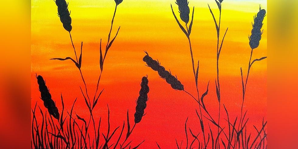 """Harvest Sunset"" Paint Night"