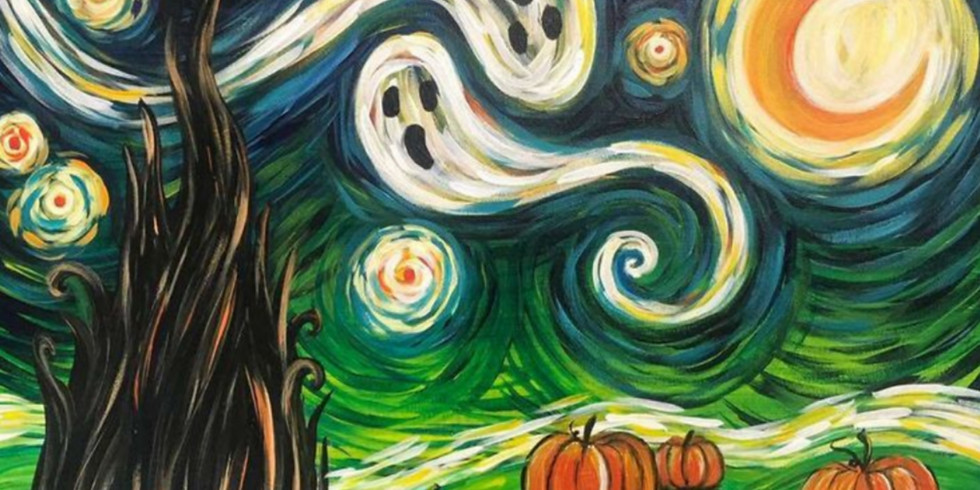 """Spooky Night""  Paint Night"