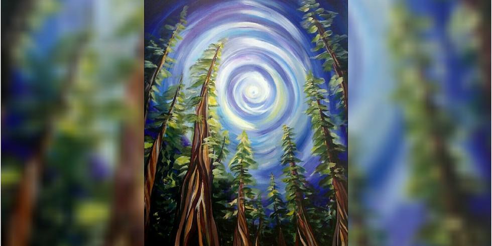 """Moonbeam Forest"" Paint Night 2"