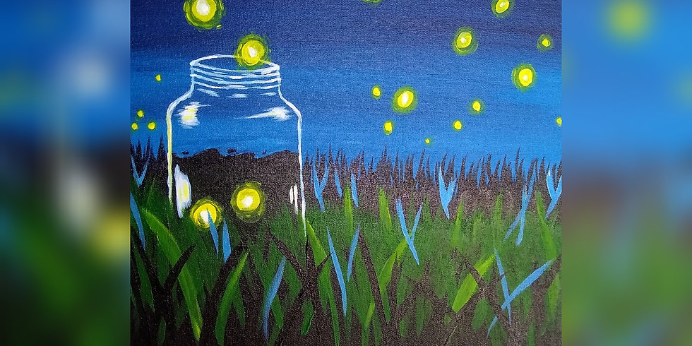 """Light Up My Jar""  Paint Night"