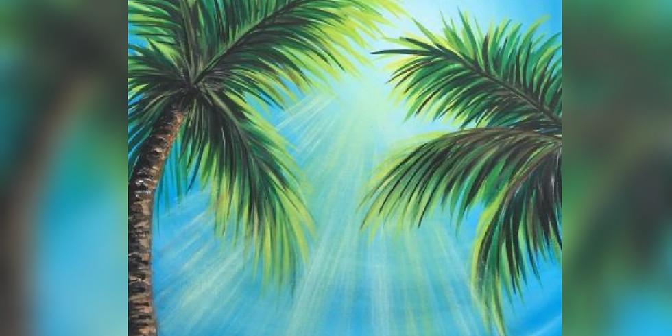 """Sunny Palms"" Paint Night"