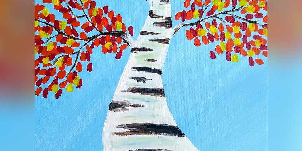 """SOLD OUT """"Fall Birch Tree"""" Paint Night"""