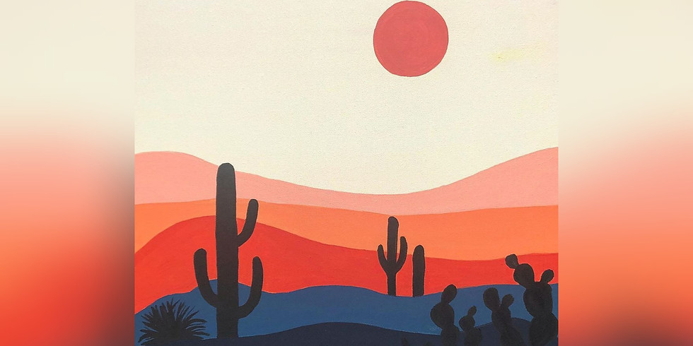 """""""Desert Mirage"""" Paint Night"""