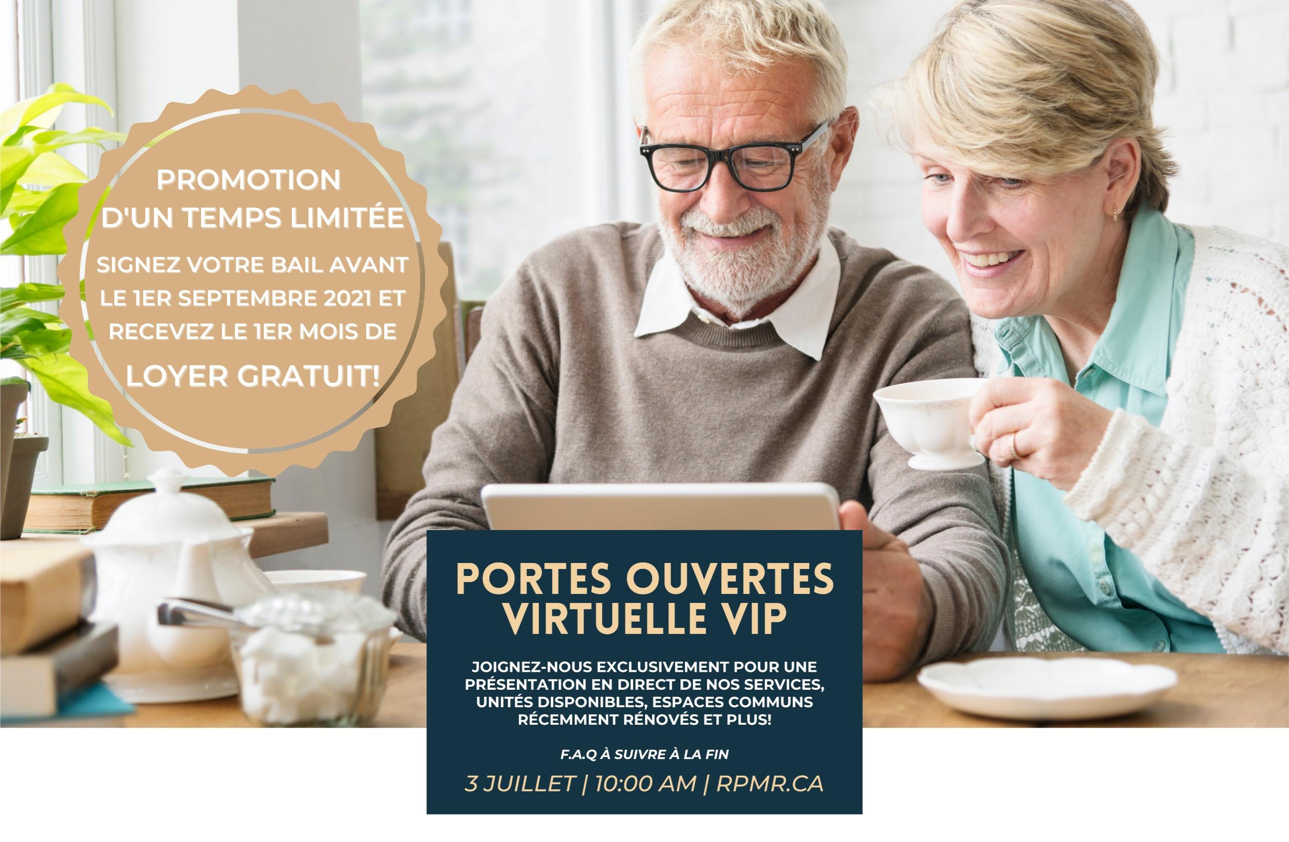 Portes Ouvertes Virtuelle VIP (FRANCAIS)