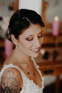 Maquillage mariage prune crédit photo passionnement toi