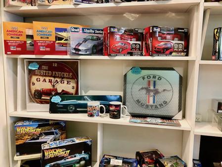 アメ車、アメリカン雑貨コーナー