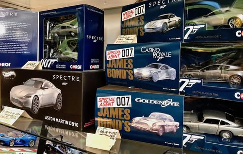 007シリーズに登場した歴代ボンドカー。