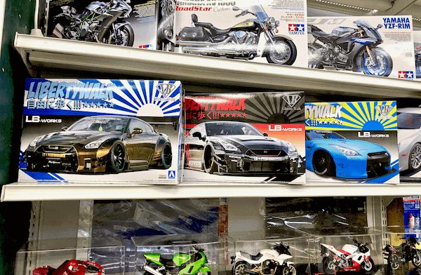 アオシマの「1/24 リバティーウォーク」シリーズの「LB★ワークス R35 GT-R」プラモデル