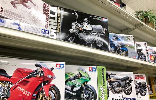 バイクのプラモデルコーナー