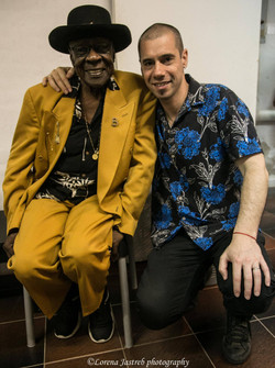 with Bob Stroger