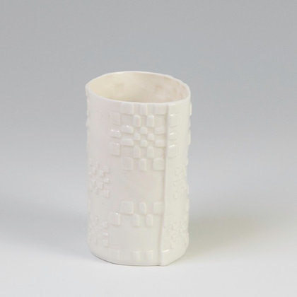 Fâs Carthen Wen Fach - Small White Carthen Vase