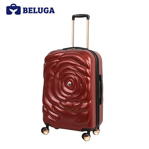 BELUGA Rose Lady Collection 24 Inches Travel Luggage Red (Model:BE-ROSE-24R)