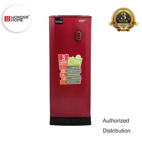 WHF-DF-S230L Wonder Home Single Door Defrost Refrigerator w/Water Dispenser 230L