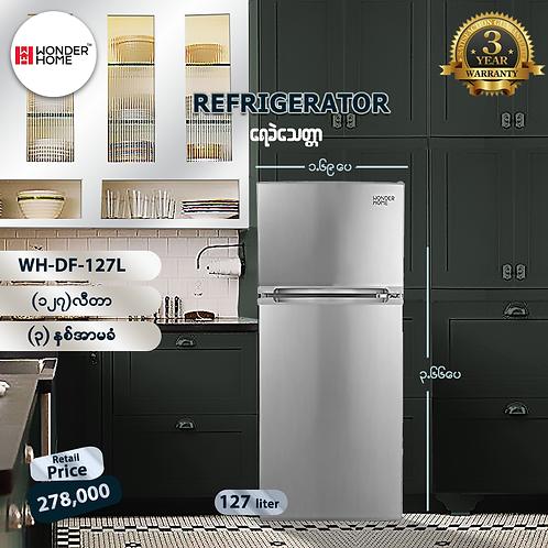 Wonder Home 127Liters Defrost 2 Door Refrigerator ( Model: WHF-DF-127L)