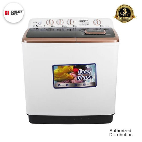 WH-WM-D13 Wonder Home Turbo Dry Tech Semi Auto Twin Tub Washing Machine 13 KG