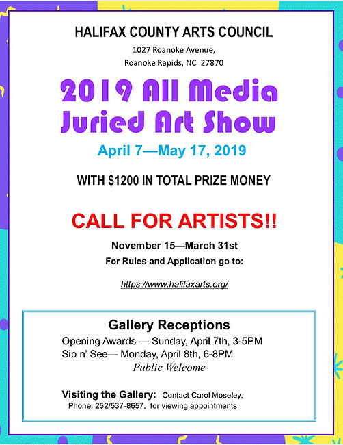 Flyer (v5) - HCAC Juried Art Show 2019 -