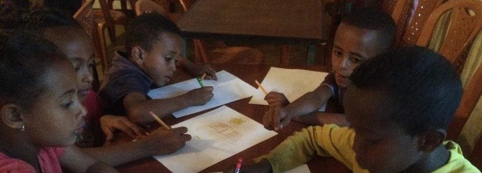 Kids Practicing Art