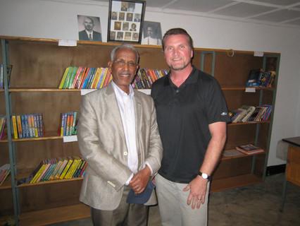 Mike with Ato Zemenu Senay