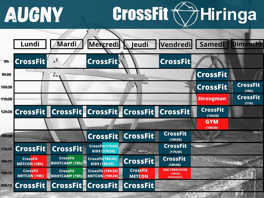 CrossFit Hiringa planning Augny