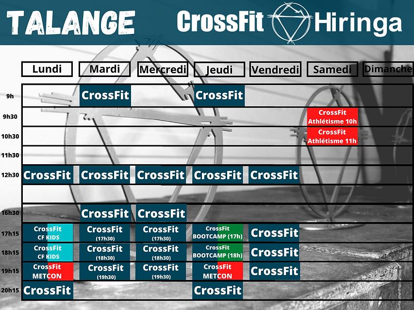 CrossFit Hiringa planning Talange