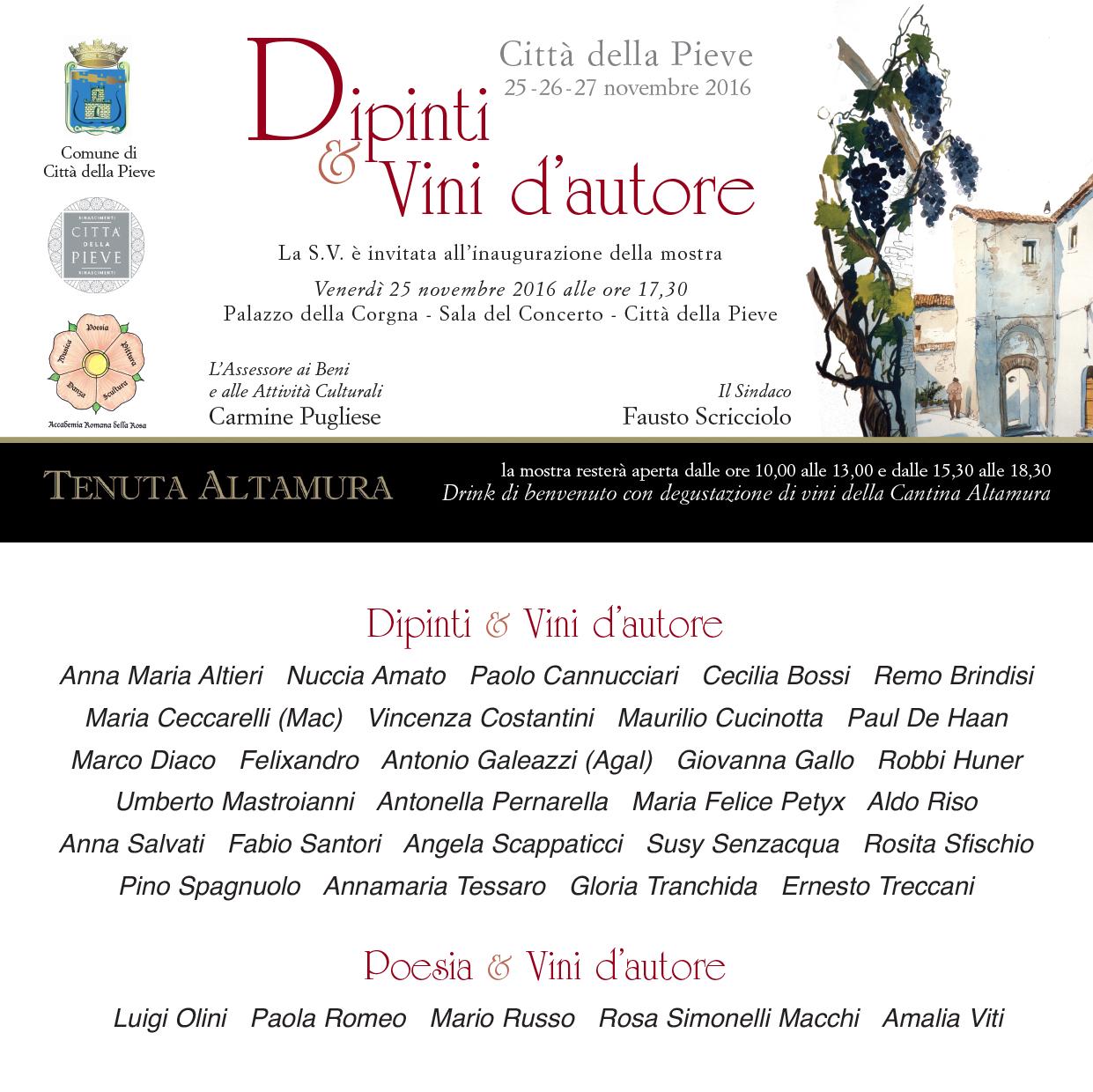 """""""Dipinti e vini d'autore"""" - città della pieve 2016"""