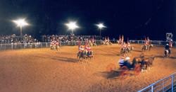Rodeo at night