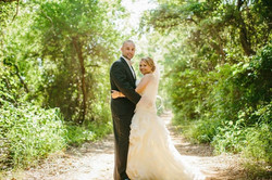 Bride and Groom Portraits in Meadow