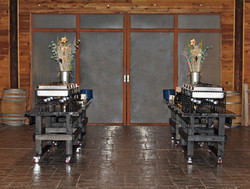 circle r ranch black buffet tables in we