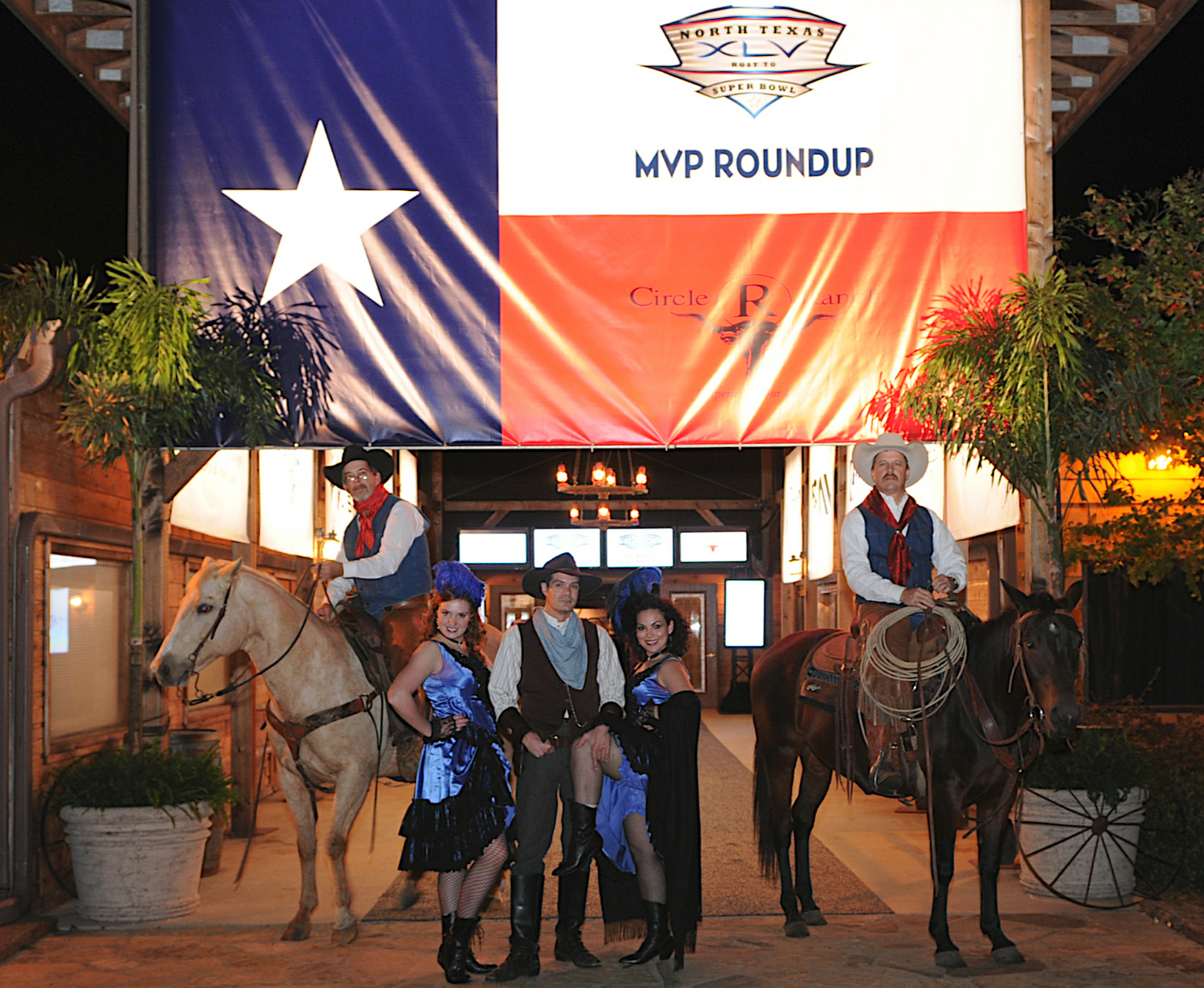 entry with cowboys & saloon girls
