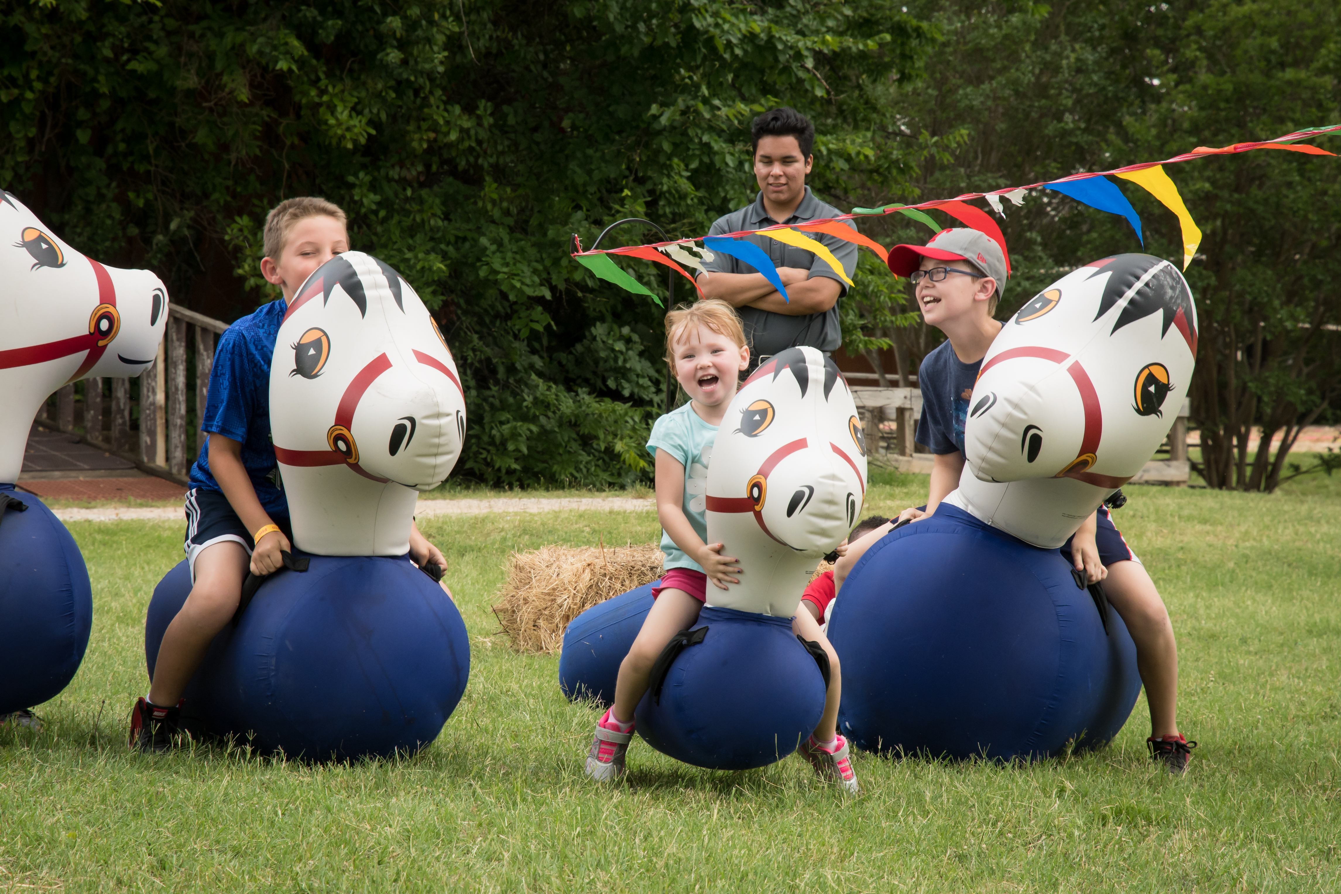 Inflatable Ponies  for Company Picnic at