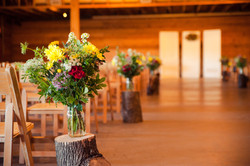 Ceremony Floral at Wedding Venue