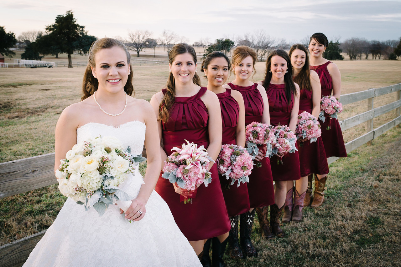Bridal Party at Wedding Venue