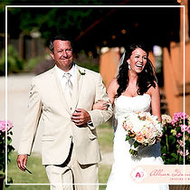 Bride-Walking-with-Father-at-Wedding-Cer