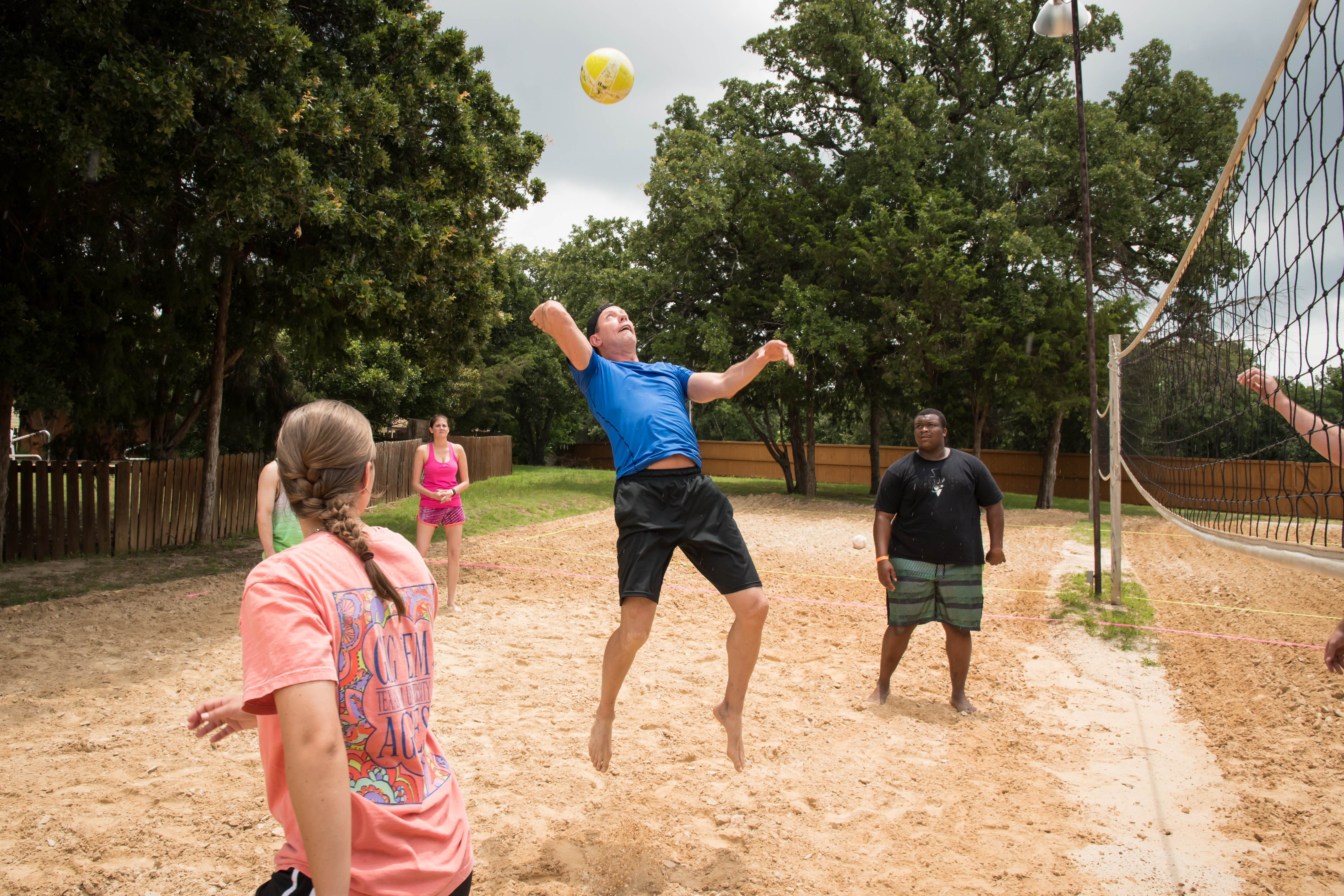Volleyball for Company Picnic at Circle