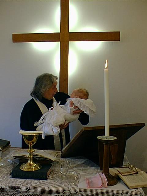 Křtiny na faře CČSH