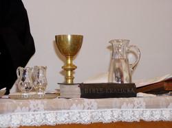 Oltář na faře Hloubětín