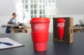 Maverick red branded cup