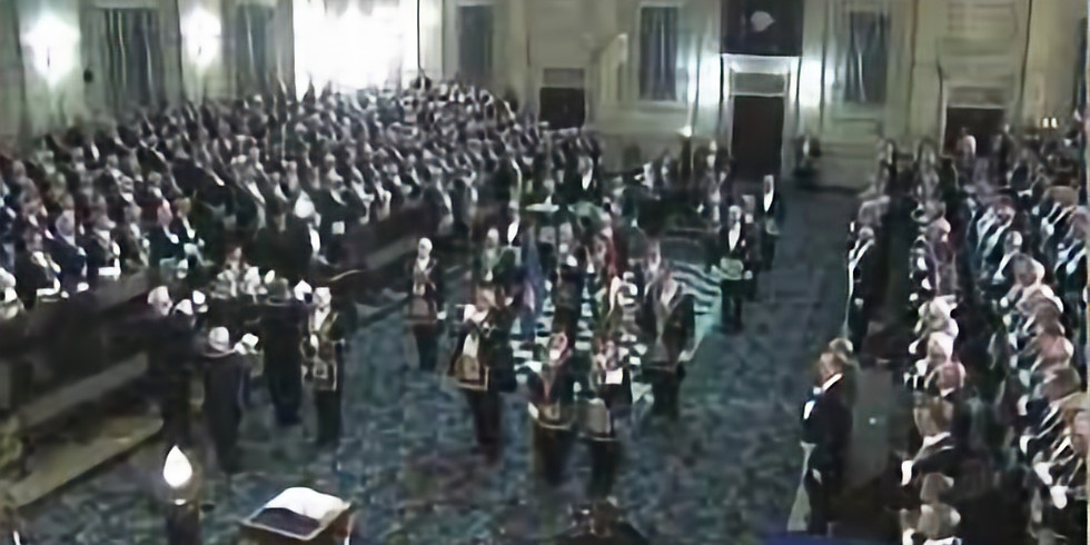 Installation of the Master and his Suite of Officers
