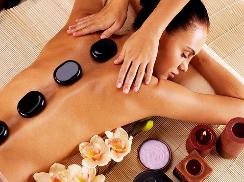 30min Back, Neck & Shoulders Massage with Hot Stones