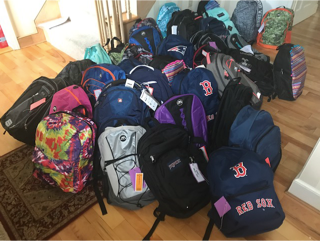 Donated Backpacks
